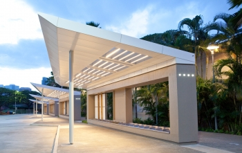 Alapai Transit Center Canopies was designed by  and built by Designer Built Systems