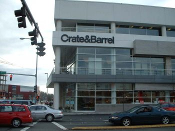 Crate and Barrel Bellevue Square was designed by NBBJ and built by Skanska Construction