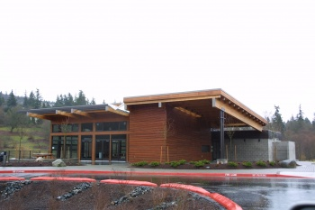 Lewis Creek Park Visitors Center was designed by Boxwood and built by Chinn Construction