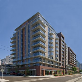 Rollin Street was designed by Ankrom Moisan and built by Howard S Wright Construction