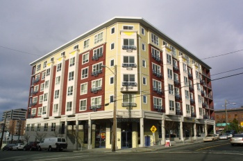 The Mosaic Apartments was designed by Driscoll and built by